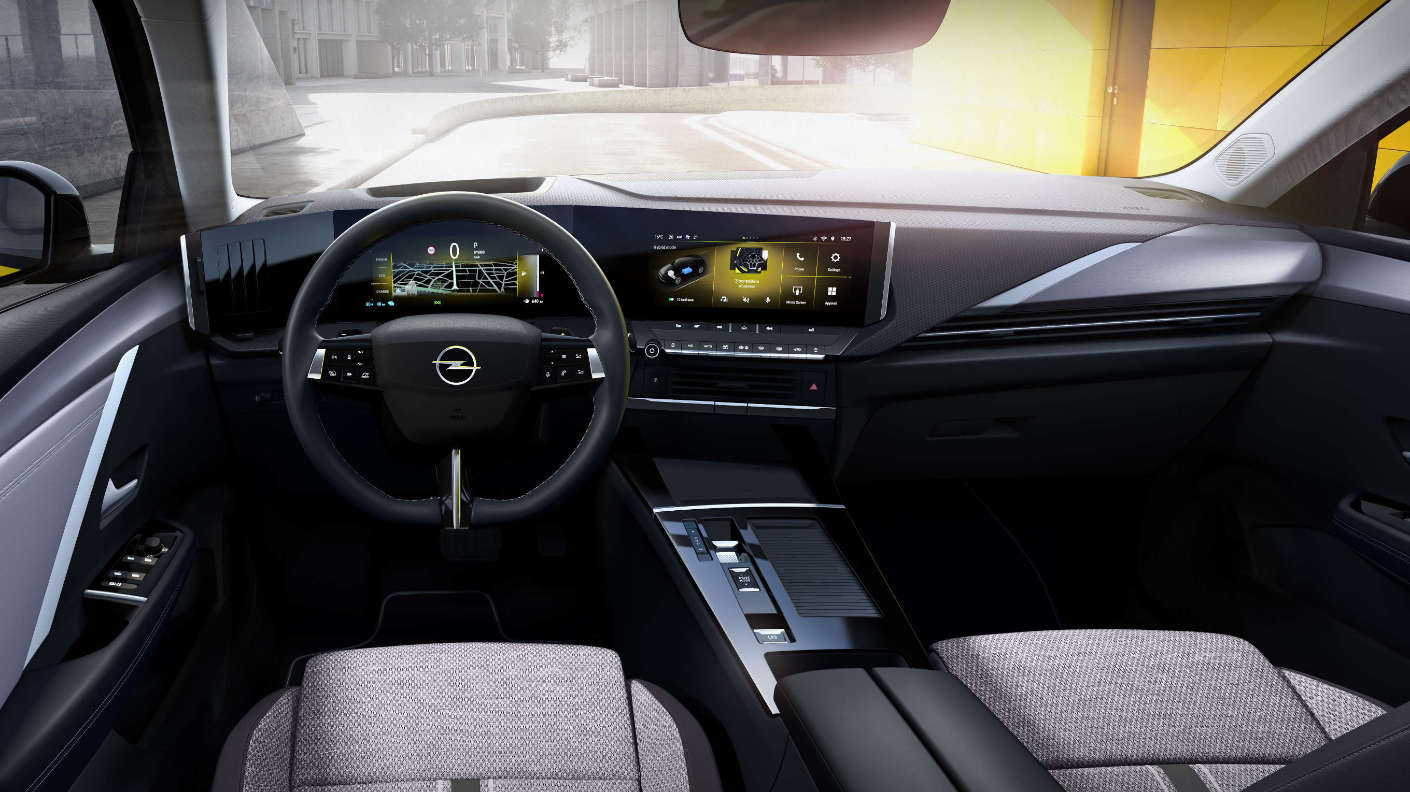 Opel Astra, інтер'єр салону
