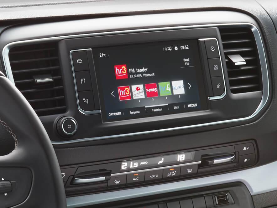 Opel, Zafira Life, інтер'єр, інформаційно-розважальна система
